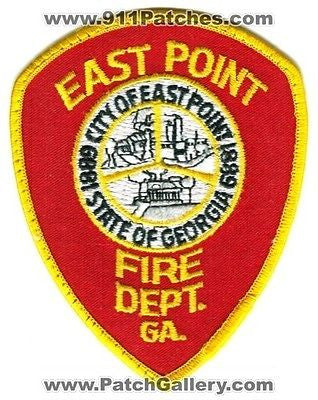 East Point Fire Department Dept FD Rescue EMS City of Patch Georgia GA OLD USED - SKU69