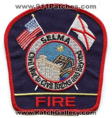 Selma Fire Department Dept FD Rescue EMS Civil War Patch Alabama AL Patches