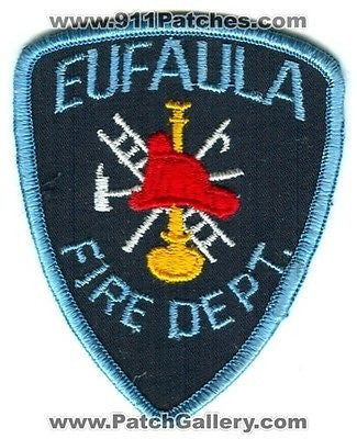 Eufaula Fire Department Dept FD Rescue EMS Patch Alabama AL Patches OLD