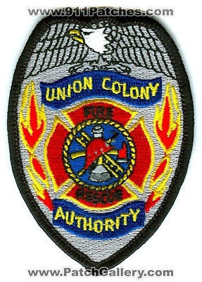 Union Colony Fire Rescue Authority Greeley Department Dept EMS Patch Colorado CO - SKU185