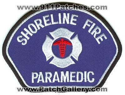 Shoreline Fire Department Paramedic Dept FD Rescue EMS Patch Washington WA White - SKU171