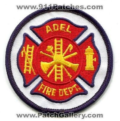 Adel Fire Department Dept FD Rescue EMS Patch Georgia GA Patches Blue