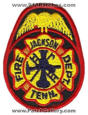 Jackson Fire Department Dept FD Rescue EMS Patch Tennessee TN Patches - SKU95