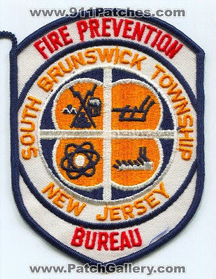 South Brunswick Township Fire Department Prevention Bureau Patch New Jersey NJ - SKU174