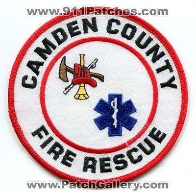 Camden County Fire Rescue Department Dept FD EMS Patch Georgia GA Old Style