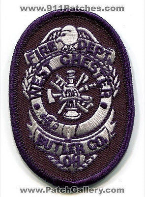 West Chester Fire Department Dept FD Rescue EMS Butler County Patch Ohio OH NEW - SKU189