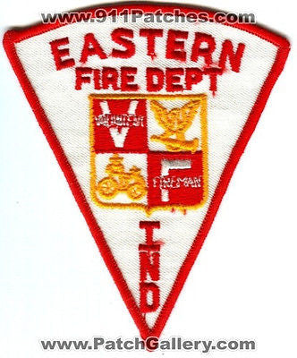 Eastern Fire Department Volunteer Fireman VF Rescue EMS Patch Indiana IN OLD - SKU70