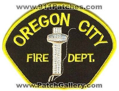 Oregon City Fire Department Dept FD Rescue EMS Patch Oregon OR Patches NEW - SKU152