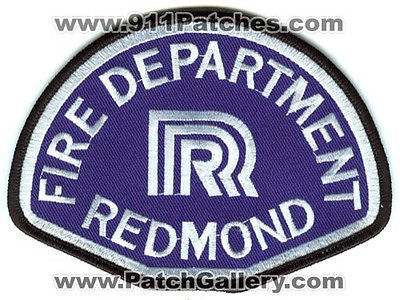 Redmond Fire Department Patch Washington WA Old Style Blue SKU165