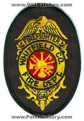 Whitfield County Fire Department FireFighter Co Dept Rescue EMS Patch Georgia GA
