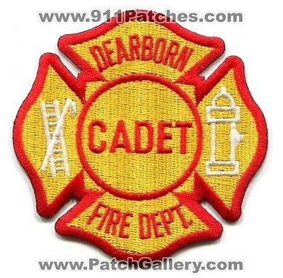 Dearborn Fire Department Cadet Dept Rescue EMS Patch Michigan MI Patches Yellow