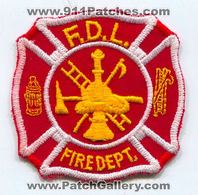 Fond Du Lac Fire Department Dept Rescue EMS FDL Patch Wisconsin WI Patches OLD - SKU74