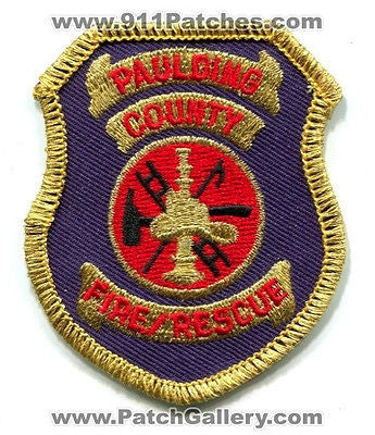 Paulding County Fire Rescue Department Dept EMS Patch Georgia GA SMALL Hat Size - SKU157