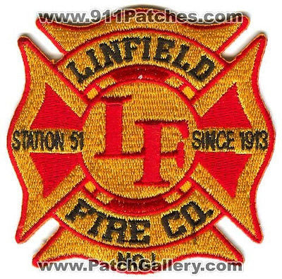 Linfield Fire Company Number 1 Station 51 Department EMS Patch Pennsylvania PA - SKU106