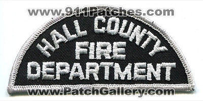 Hall County Fire Department Dept HCFD Rescue Patch Georgia GA White Black OLD