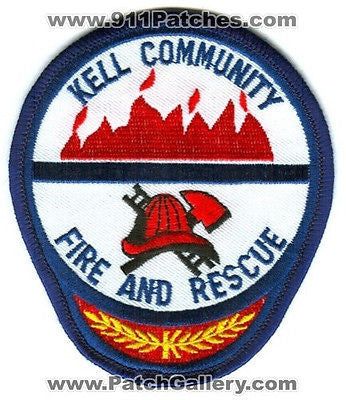 Kell Community Fire and Rescue Department Dept FD EMS Patch Illinois IL Patches
