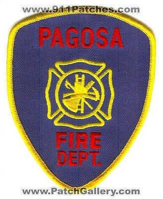 Pagosa Springs Fire Department Dept FD Rescue EMS Patch Colorado CO Patches Blue