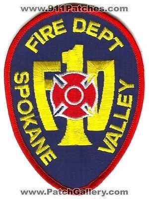 Spokane Valley Fire Department 1 Dept FD Rescue EMS Patch Washington WA SKU178