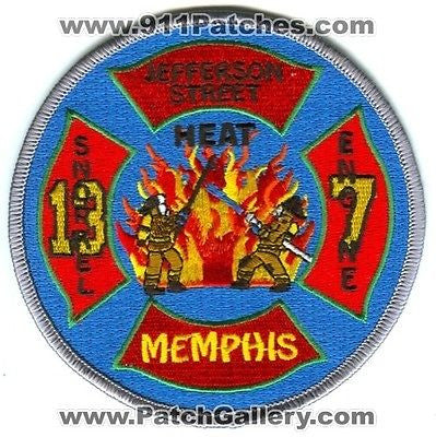 Memphis Fire Department Engine 7 Snorkel 13 Patch Tennessee TN SKUFC1