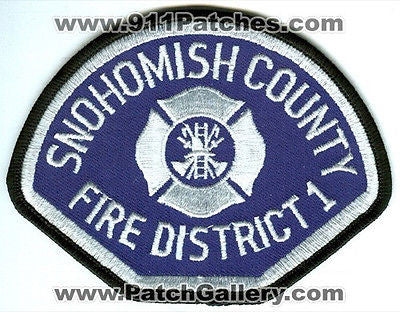 Snohomish County Fire District 1 Department Rescue Patch Washington WA White