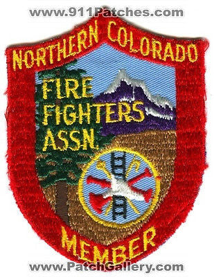 Northern Colorado Fire Fighters Association Member Rescue Patch Colorado CO OLD - SKU147