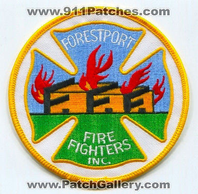 Forestport Fire Fighters Inc FFF FireFighters Department EMS Patch New York NY