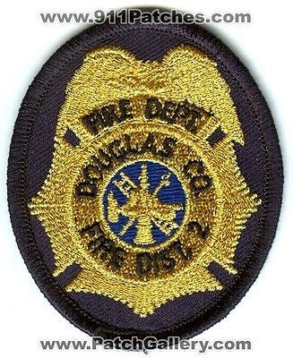 Douglas County Fire District 2 Department Rescue EMS Patch Washington WA Gold
