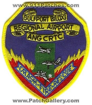 Gulfport Biloxi Regional Airport Crash Fire Rescue ANG USAF Military Patch Mississippi MS