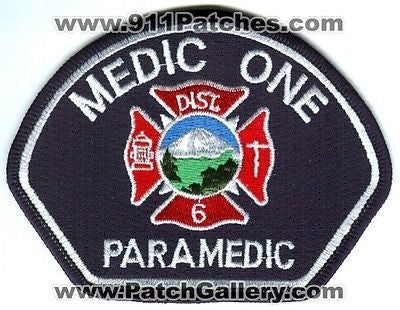Central Pierce Fire Rescue District 6 Medic One 1 Paramedic EMS Patch Washington WA