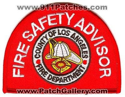 Los Angeles LA County Fire Department Safety Advisor LACoFD Patch California CA