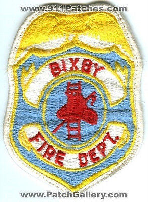 Bixby Fire Department Dept BFD Rescue EMS Patch Oklahoma OK Patches OLD USED - SKU45