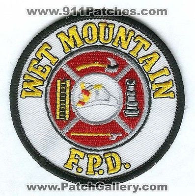 Wet Mountain Fire Protection District Department Rescue EMS Patch Colorado CO