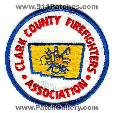 Clark County FireFighters Association Fire Department Rescue EMS Patch Ohio OH