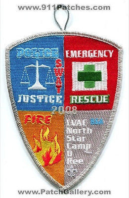 Las Vegas Area Council LVAC 2008 BSA Fire Rescue Police SWAT Patch Nevada NV