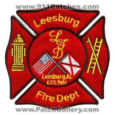 Leesburg Fire Department Dept FD Rescue EMS Flags Patch Alabama AL Patches