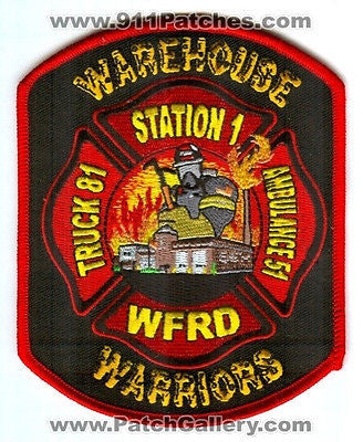 Woodstock Fire Rescue District Station 1 Truck 81 Ambulance 51 Patch Illinois IL SKU195