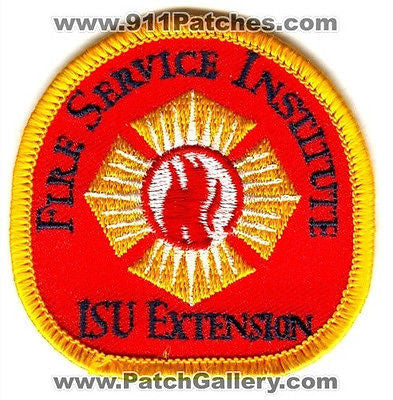 Iowa State University ISU Fire Service Institute Department Rescue EMS Patch Iowa IA