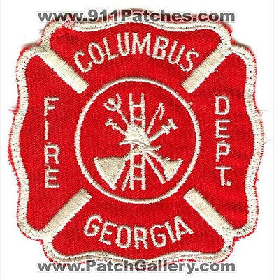 Columbus Fire Department Dept CFD Rescue EMS Patch Georgia GA Patches OLD USED