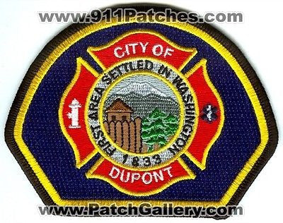 Dupont Fire Department Patch Washington WA Yellow