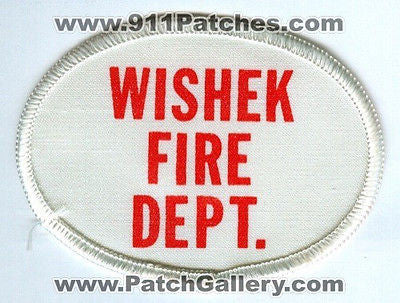 Wishek Fire Department Dept WFD Rescue EMS Patch North Dakota ND Patches OLD - SKU194