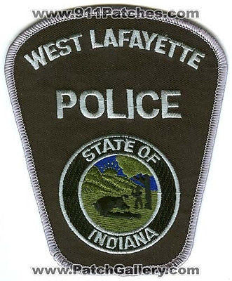 West Lafayette Police Department Dept WLPD Sheriff's Sheriffs Patch Indiana IN