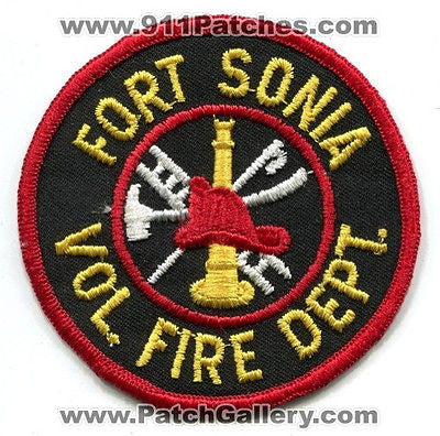 Fort Ft Sonia Volunteer Fire Department Dept Rescue EMS Patch Georgia GA OLD v1 - SKU76