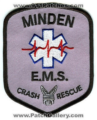 Minden Fire Department EMS Crash Rescue Dept MFD Patch Nebraska NE Patches NEW - SKU132