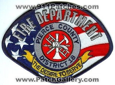 Pierce County Fire Department District 18 Rescue EMS Patch Washington WA Patches - SKU149