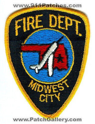 Midwest City Fire Department Dept Rescue EMS Patch Oklahoma OK OLD