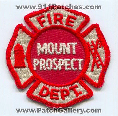Mount Prospect Fire Department Mt Dept. MPFD Rescue EMS Patch Illinois IL OLD