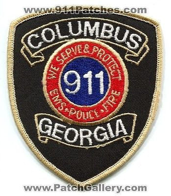 Columbus 911 Communications Dispatcher Fire EMS Police Patch Georgia GA OLD