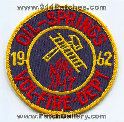 Oil Springs Volunteer Fire Department Dept FD Rescue EMS Patch Kentucky KY