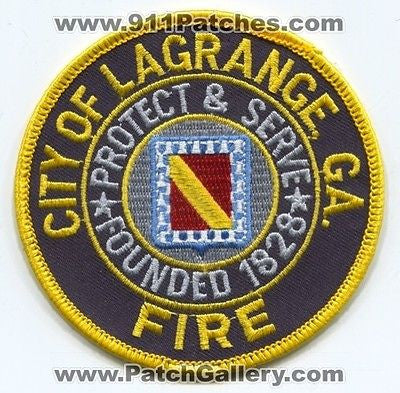 LaGrange Fire Department Dept FD Rescue EMS City of Patch Georgia GA New Style