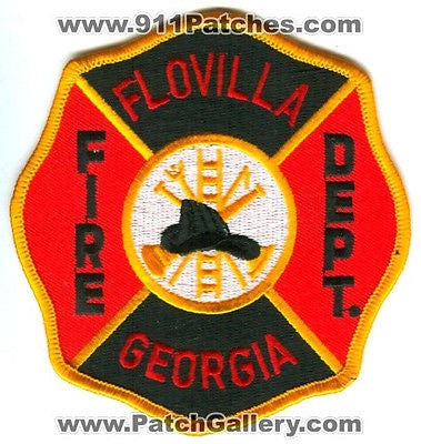 Flovilla Fire Department Dept FFD Rescue EMS Patch Georgia GA Patches NEW - SKU74